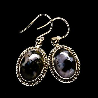 "Gabbro Oorbellen 1 3/8"" (925 Sterling Silver) - Handgemaakte Boho Vintage sieraden EARR396194"