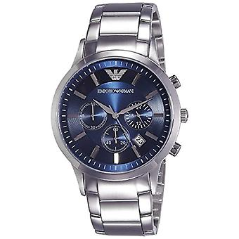 Emporio Armani men's analog clock with metal plated stainless steel AR2448