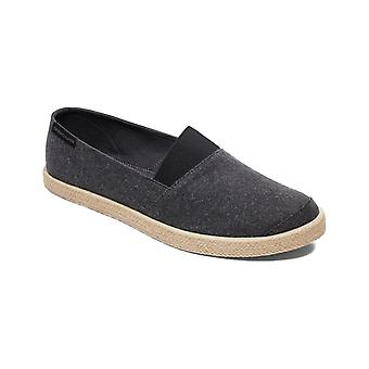 Quiksilver Espadrilled Deck Shoes in Solid Black