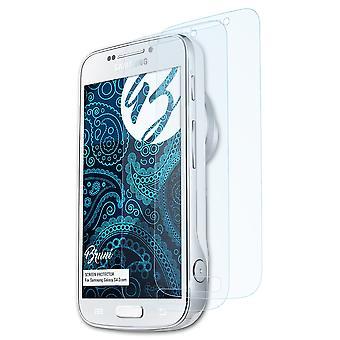 Bruni 2x Schutzfolie kompatibel mit Samsung Galaxy S4 Zoom Folie