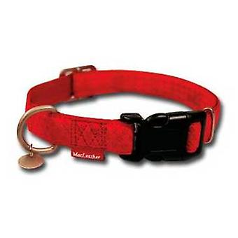 Nayeco MacLeather red dog collar L (Dogs , Collars, Leads and Harnesses , Collars)