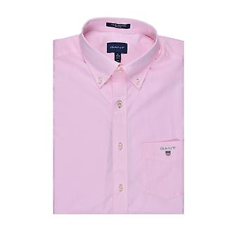 Gant The Broadcloth Regular Short Sleeve Shirt Shadow Rose