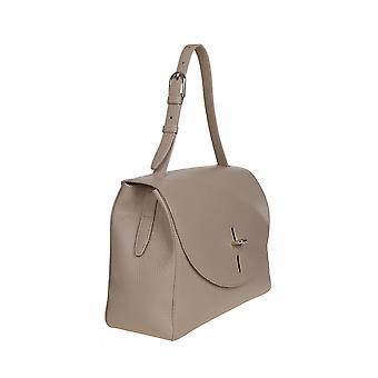 Furla 1056805 Women's Beige Leather Shoulder Bag