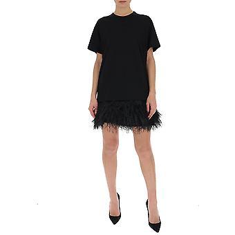 N°21 H05141579000 Women's Black Cotton Dress