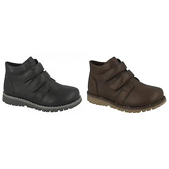 JCDees Boys Round Toe Double Strap Ankle Boots