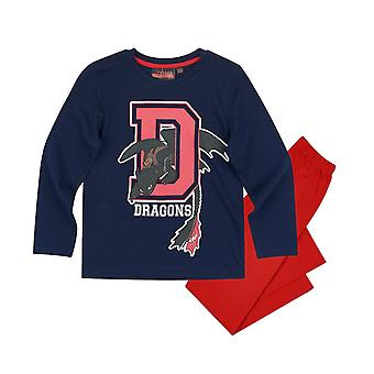 Dragons boys pyjama set navy blue