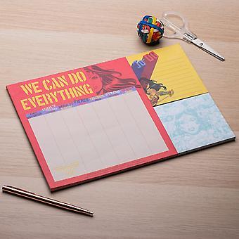 Wonder Woman DC Comics Desk Planner Nota Organizador Organizador Estudio Oficina de Tareas