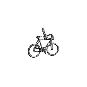 Silver 12x20mm Bicycle Pendant or Charm
