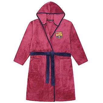 Fc Barcelona Oficial de Futebol Presente Mens Hooded Fleece Robe