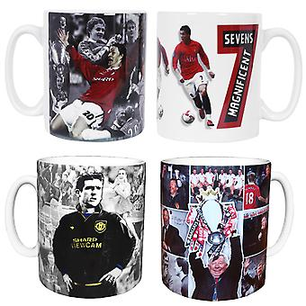Retro Football Legends of Manchester United Ceramic Mug