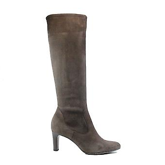 Peter Kaiser Monja Grey Stretch Suede Leather Womens Long Leg Heeled Boots