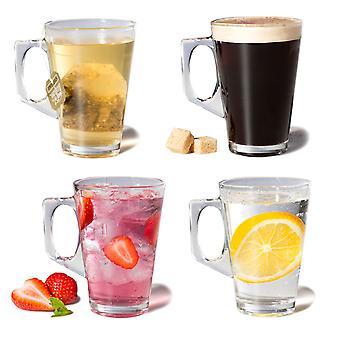 Set van 4 koffie glazen voor thee & koffie