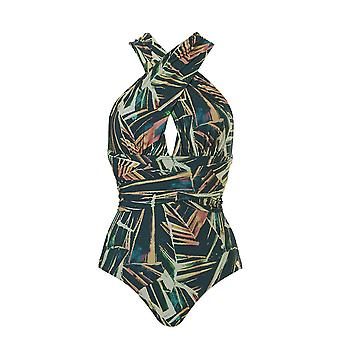 TC WoW - Palm Leaves Multiway Swimsuit - Multicolored