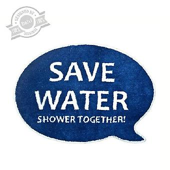 Badmat Save water Shower together