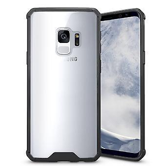 Für Samsung Galaxy S9 zurück Fall, Schockproof Transparent Armour Cover, schwarz