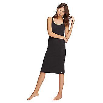Volcom Women's Lil Dress Relaxed Fit Basics, Black, Medium