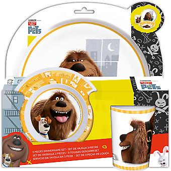 The Secret Life Of Pets Kids Breakfast Set 3-Piece Melamine Kids Harness