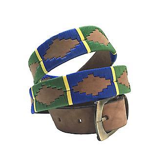 carlos diaz unisex  brown leather  polo belt cdupb155