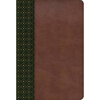 RVR 1960 Biblia de Estudio Scofield - verde oscuro/castano simil piel