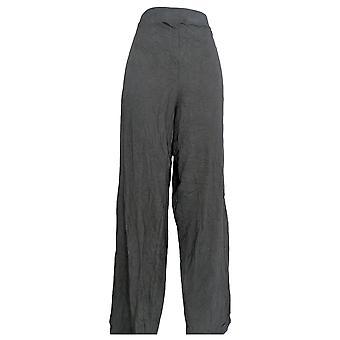 Denim & Co. Women's Tall Beach Pull-On Wide Leg Knit Pants Zwart A305633
