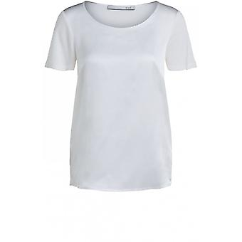 Oui Off White Silky Front Top