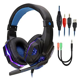 Stuff Certified® Bass HD Gaming Headset Stereo Earphones Headphones with Microphone for PlayStation 4 / PC Blue