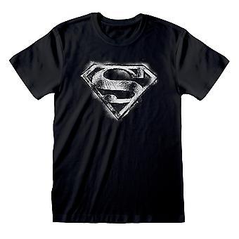 DC Comics Superman Mono Distressed Logo Männer's T-Shirt | Offizielles Merchandise