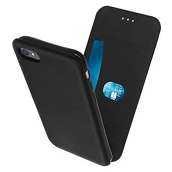 Vertical flip case, synthetic leather case for iPhone 7 / 8 / SE 2020 – Black