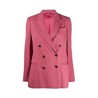 Brunello Cucinelli Mf5918924c7900 Women's Fuchsia Linen Blazer