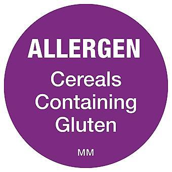 DayMark Removable Cereals Allergen Purple Circle Labels
