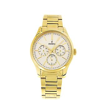 Festina F16815/1 Ladies Gold Plated Multi-Function Watch - Gold