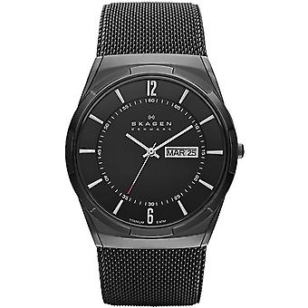 Skagen SKW6006 Aktiv Black Dial Black PVD Mesh Men's Watch