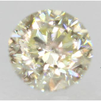 Zertifiziert 0.46 Karat J VVS2 Round Brilliant Enhanced Natural Diamond 4.65mm