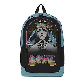 David Bowie Backpack Bag Pharoah Logo new Official Rocksax Black