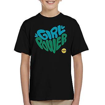 La camiseta del niño de doctor Who Girl Power Heart