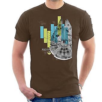 Star Wars Millenniumm Falcon Corellian światło frachtowiec Men's T-Shirt