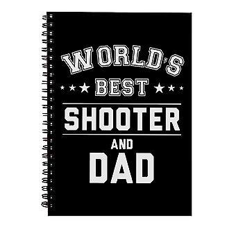 Verdens beste skytespill og pappa Spiral Notebook