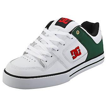 DC Shoes Pure Mens Skate Trainers in White Green