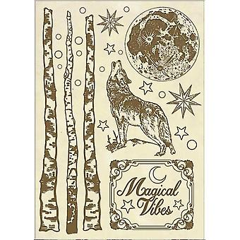 Wooden Shapes A5  Cosmos Wolf (KLSP056)
