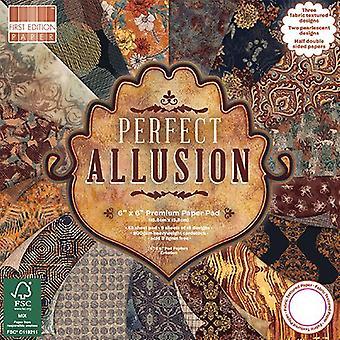 Primera edición Perfecta Alusión 6x6 pulgadas Paper Pad