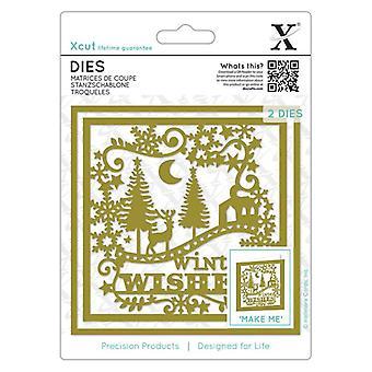 Desejos de inverno Xcut morre (2pcs) (XCU 503365)