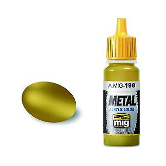 Ammo by Mig Acrylic Metallic Paint - A.MIG-0198 Gold (17ml)