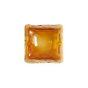 Glass Crystal Ashtray Amber