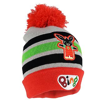 Bing Bunny Striped Girls Beanie with Pom | Official Merchandise