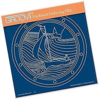 Groovi Sailor Round A5 Square Plate