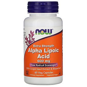 Maintenant aliments, acide alpha lipoïque, force supplémentaire, 600 mg, 60 capsules de légumes