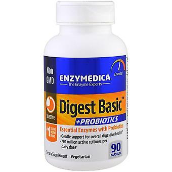 Enzymedica, Digest Basic + Probiotics, 90 Capsules