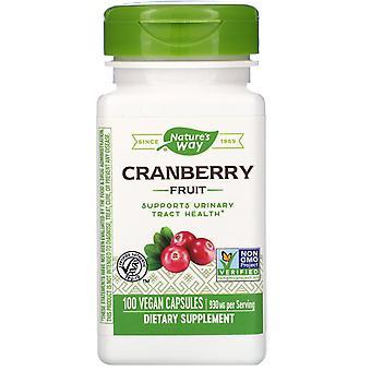 Natur's Way, Tranbärsfrukt, 930 mg, 100 Vegankapslar