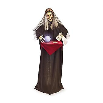 Animated Witch With Crystal Ball Halloween Trick Or Treat Prop