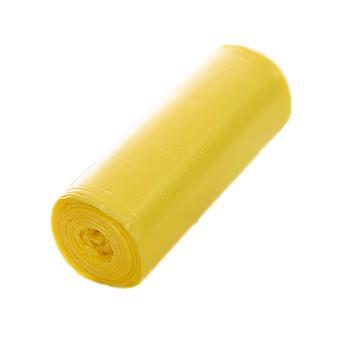 20pcs fortykket hjem disponibel søppelsekker gul 45x43CM
